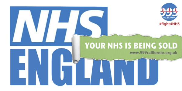 Your NHS is being sold