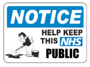 Help keep NHS public - clean sweep