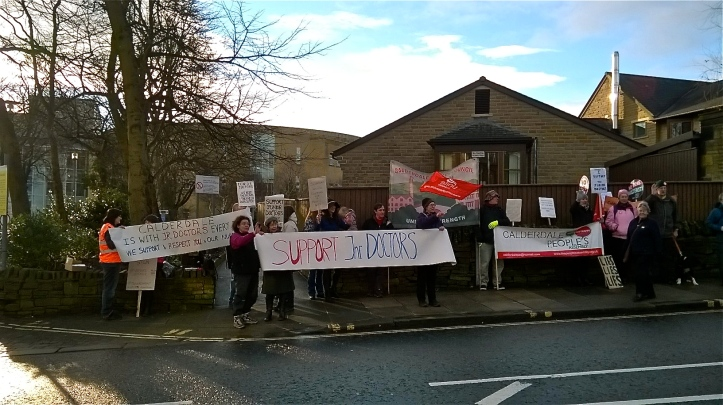 CRH Jr Dr Community Picket 12 Jan 16