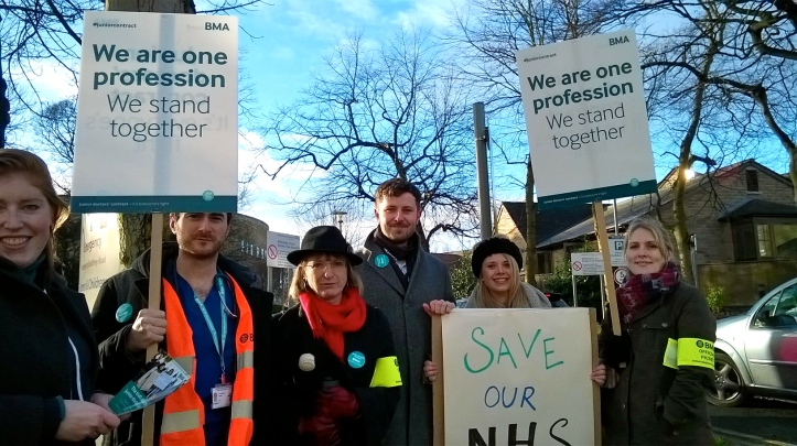 CRH jr drs BMA picket 12.1.16