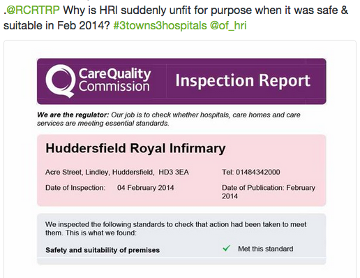 CQC report)CHFT premises meet standards 2014